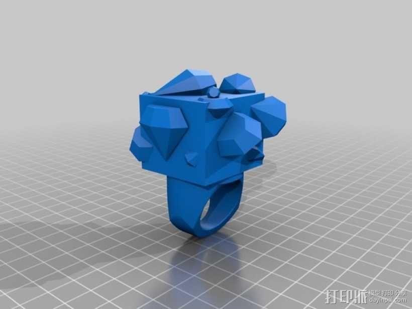 Squimond戒指 3D模型  图2