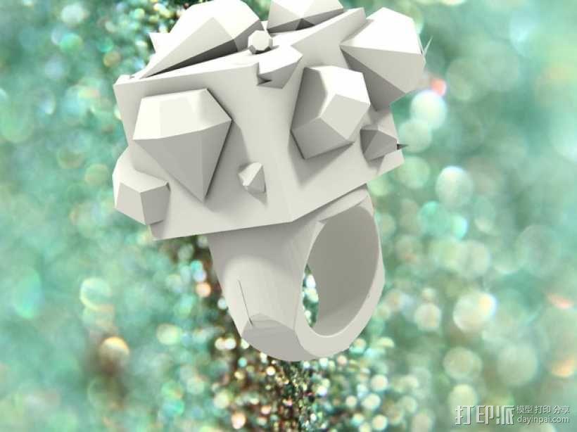 Squimond戒指 3D模型  图1