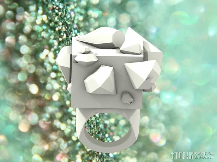 Squimond戒指 3D模型  图4