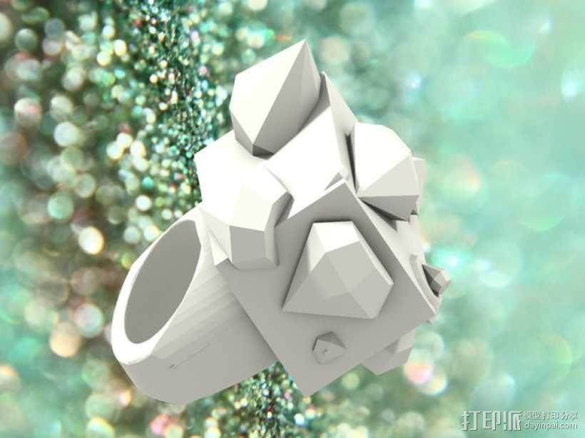 Squimond戒指 3D模型  图3
