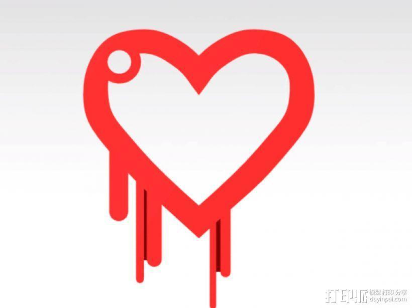 淌血的心脏 钥匙扣 3D模型  图1