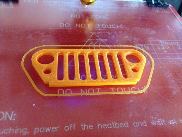 吉普烤架 钥匙扣 3D模型  图1
