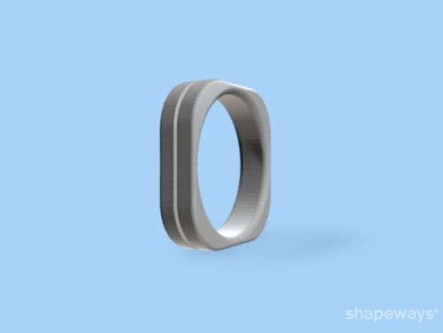 方形婚戒  3D模型  图3
