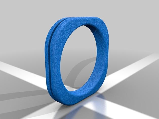 方形婚戒  3D模型  图6