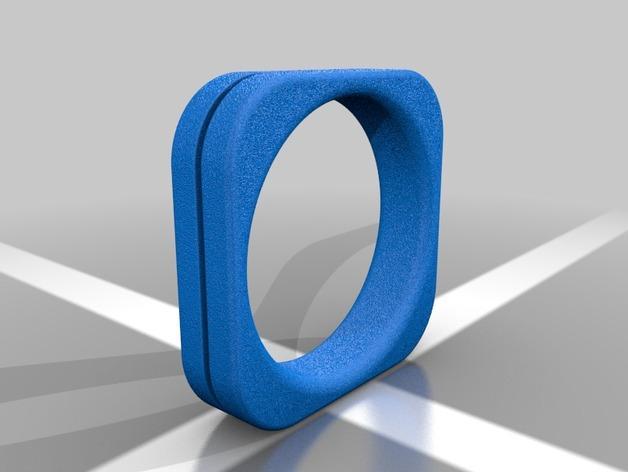 方形婚戒  3D模型  图7