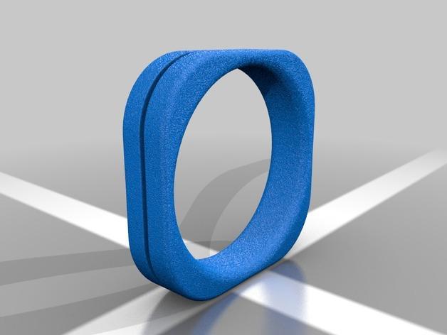 方形婚戒  3D模型  图8