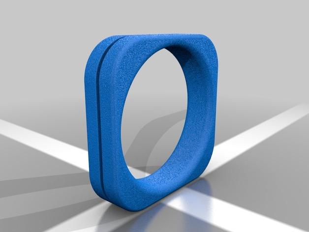 方形婚戒  3D模型  图9