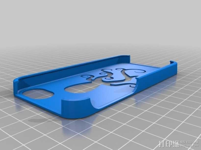 iPhone 5/5S/5C章鱼手机套 3D模型  图1