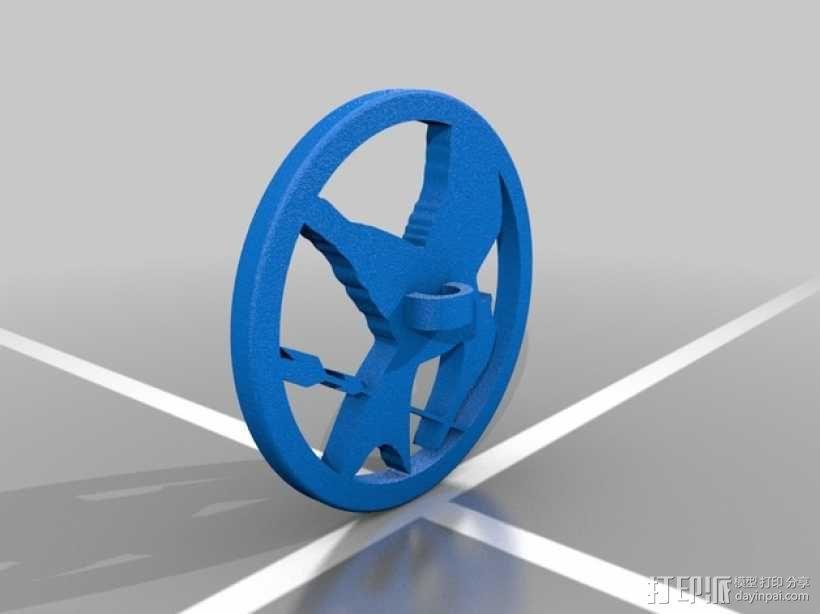盾牌吊坠 3D模型  图1