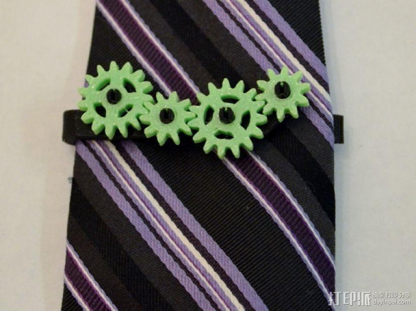 齿轮形领带夹 3D模型  图5
