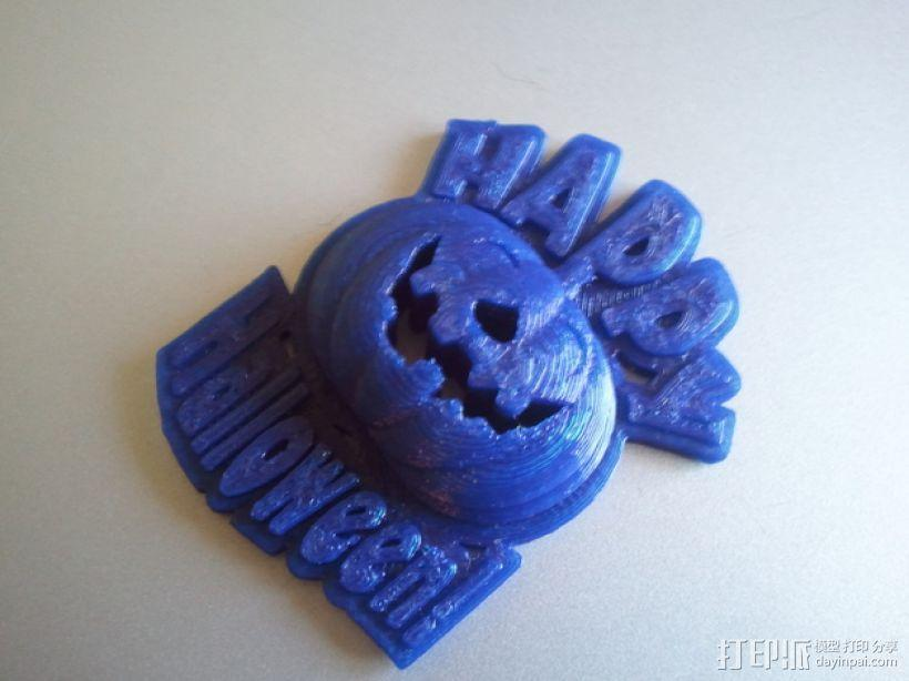 Happy Halloween 万圣节南瓜灯坠饰 3D模型  图2