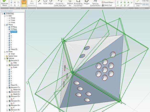 Vriska Serket 八面骰子 3D模型  图2