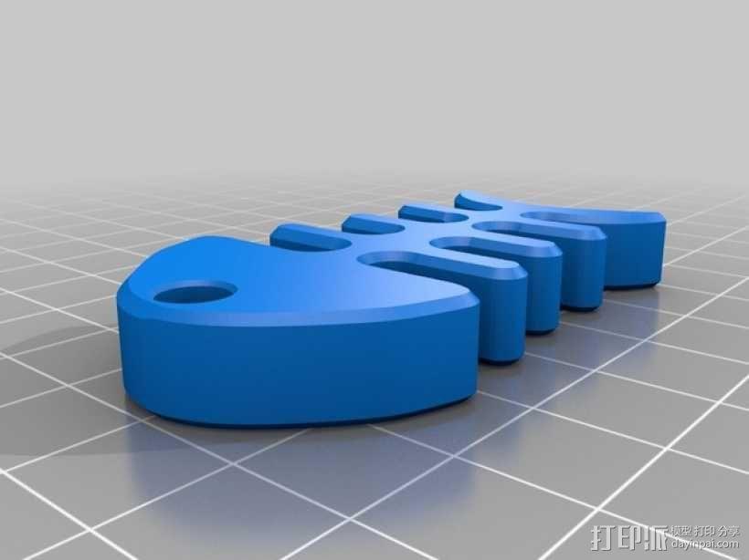 鱼骨头 钥匙坠 3D模型  图1