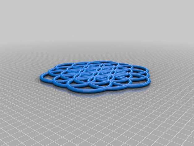 生命之花 坠饰 3D模型  图2