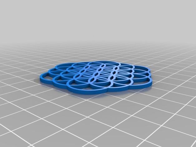 生命之花 坠饰 3D模型  图3