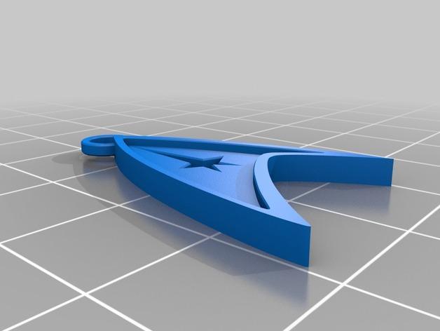 星际迷航吊坠 3D模型  图4