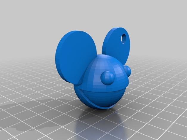 DeadMau5头像钥匙吊坠 3D模型  图1