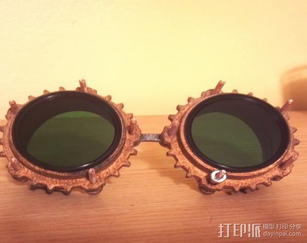 蒸汽朋克护目镜 3D模型  图2