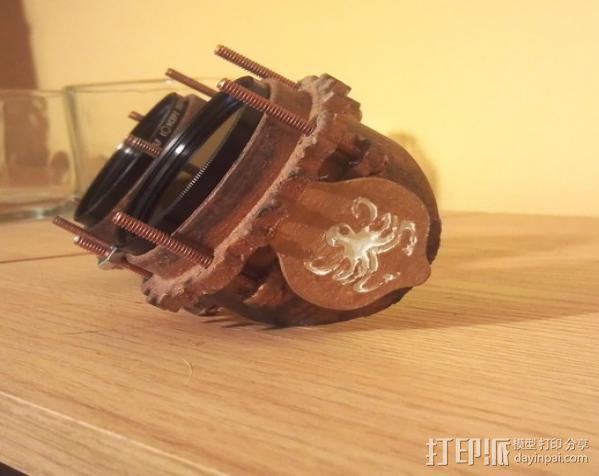 蒸汽朋克护目镜 3D模型  图3