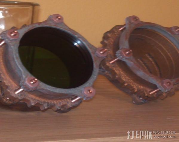 蒸汽朋克护目镜 3D模型  图5