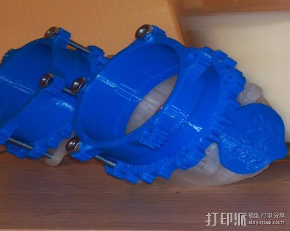 蒸汽朋克护目镜 3D模型  图6