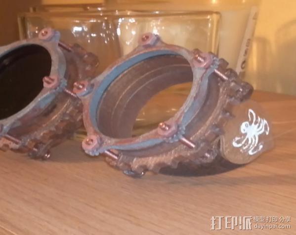 蒸汽朋克护目镜 3D模型  图4