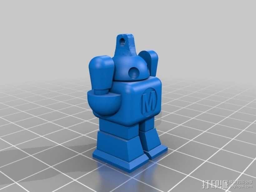 机器人坠饰 3D模型  图3