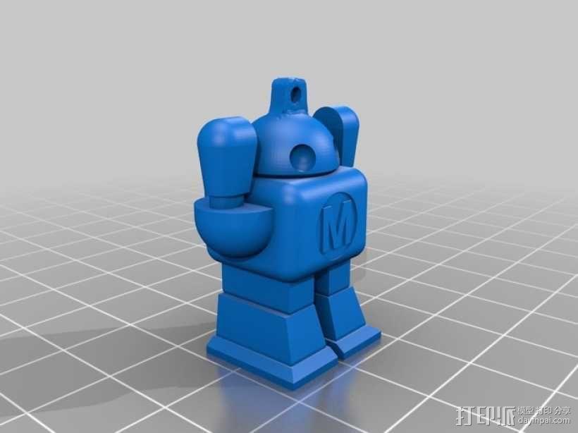 机器人坠饰 3D模型  图2
