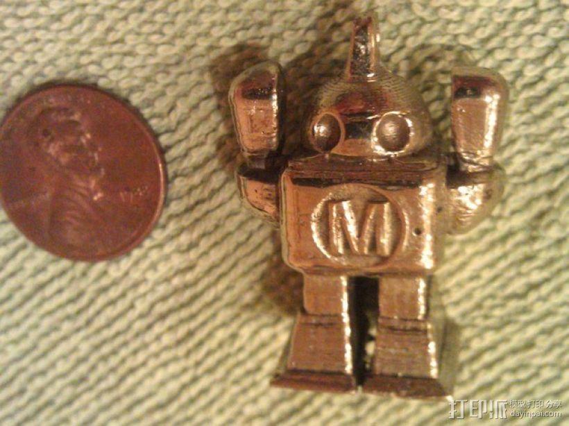 机器人坠饰 3D模型  图1
