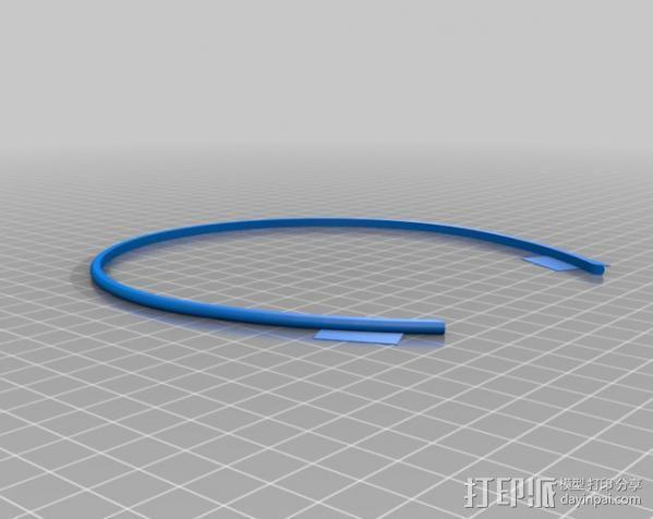 发箍 发带  3D模型  图2