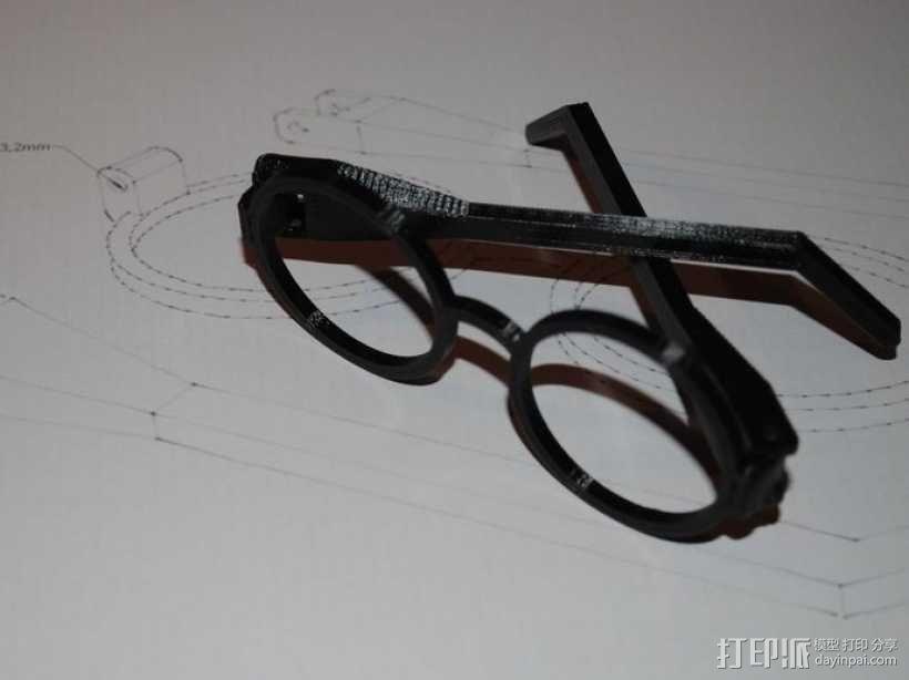 哈利波特眼镜 3D模型  图1