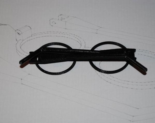 哈利波特眼镜 3D模型  图2