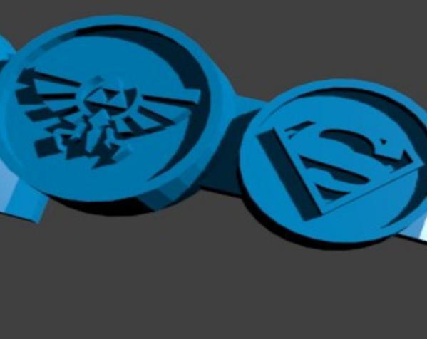 极客风 徽章戒指 3D模型  图5