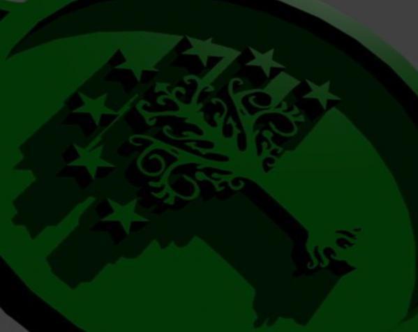 极客风 徽章戒指 3D模型  图2