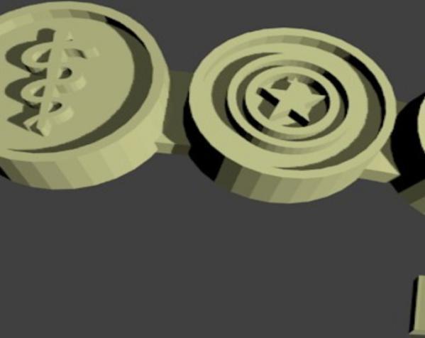 极客风 徽章戒指 3D模型  图3