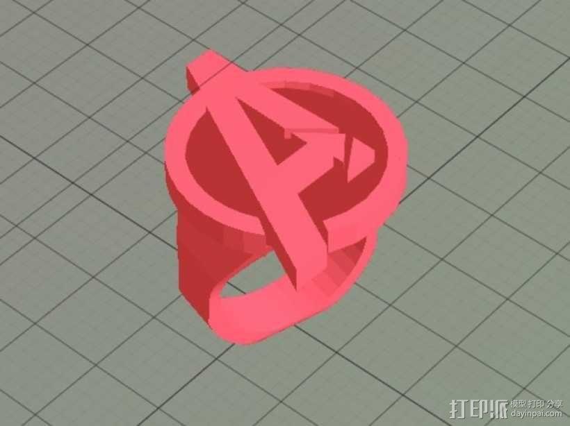 复仇者 戒指 3D模型  图2