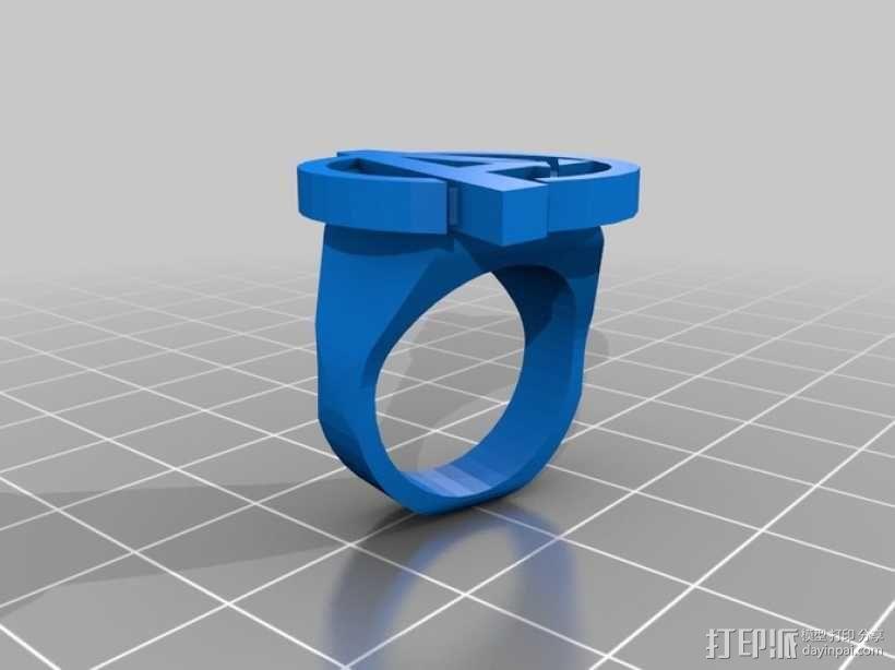复仇者 戒指 3D模型  图1