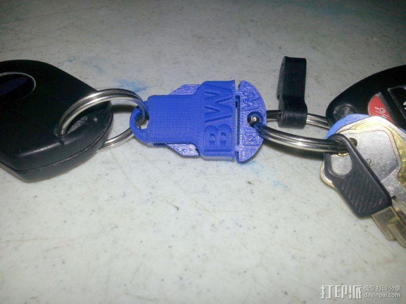 钥匙链 扣夹 3D模型  图1