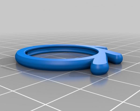 Blender样式钥匙扣 3D模型  图1