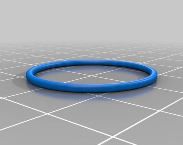 Blender样式钥匙扣 3D模型  图2