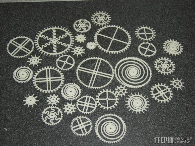 装饰性齿轮 3D模型  图1