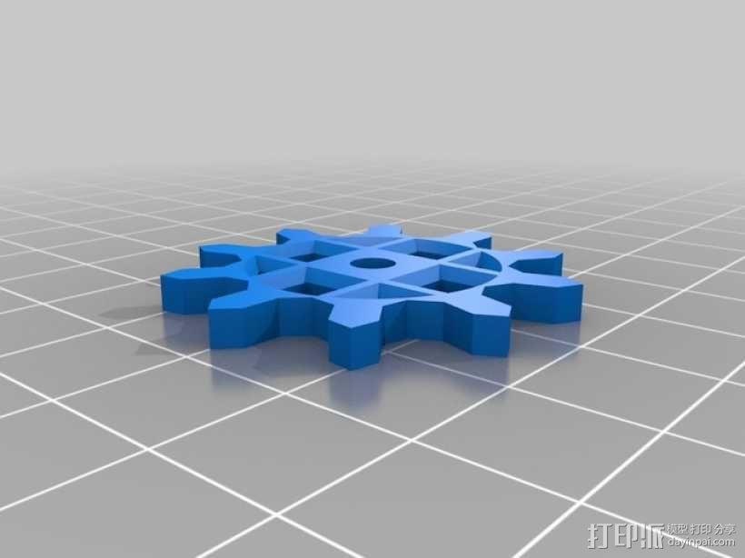 装饰性齿轮 3D模型  图2
