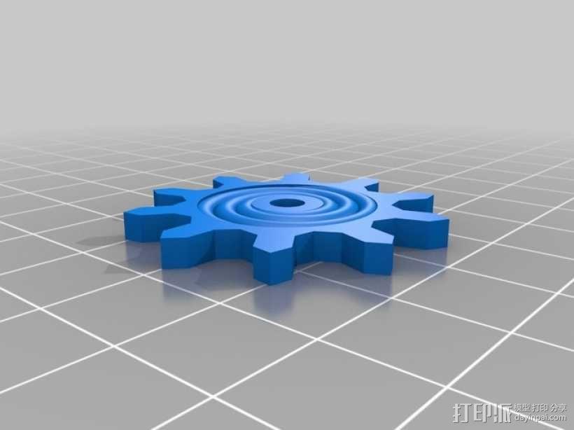 装饰性齿轮 3D模型  图3