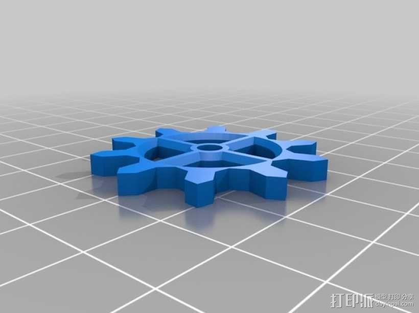 装饰性齿轮 3D模型  图4