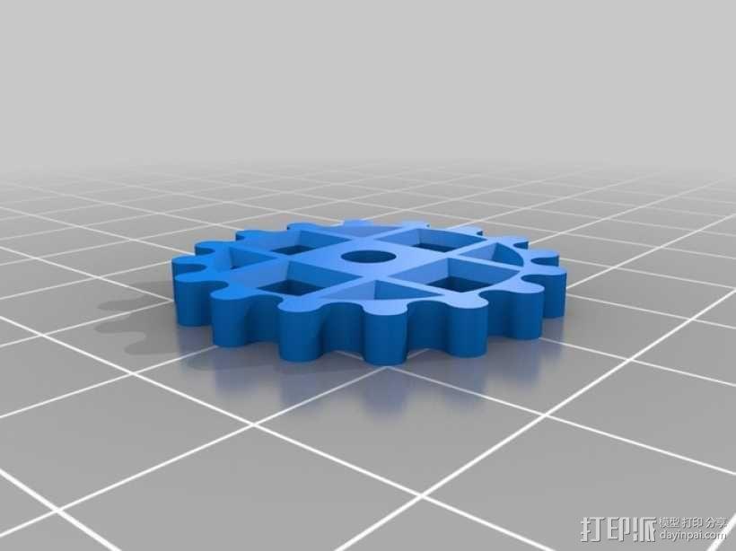 装饰性齿轮 3D模型  图6