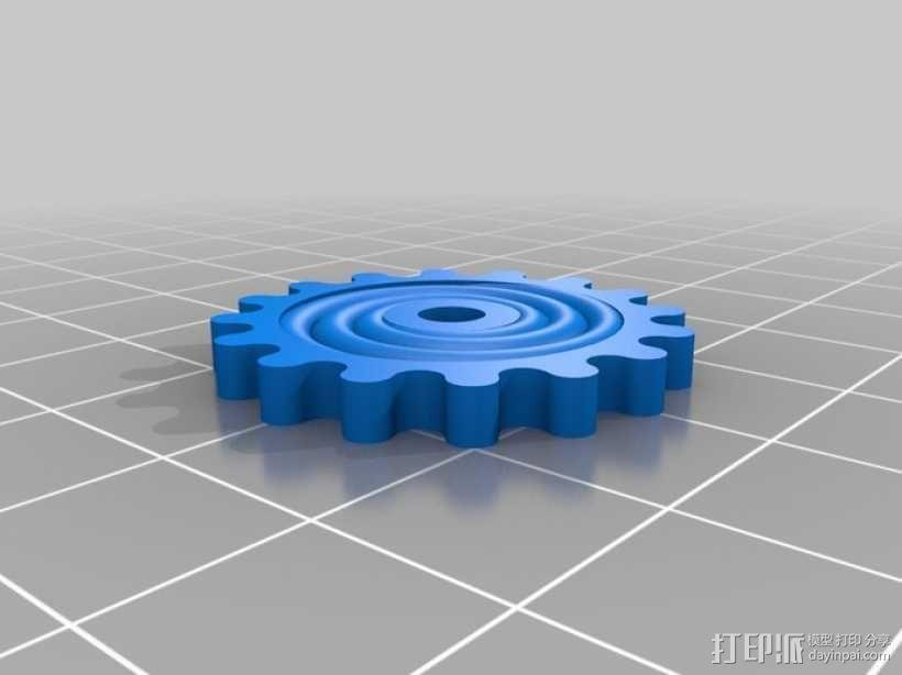 装饰性齿轮 3D模型  图7