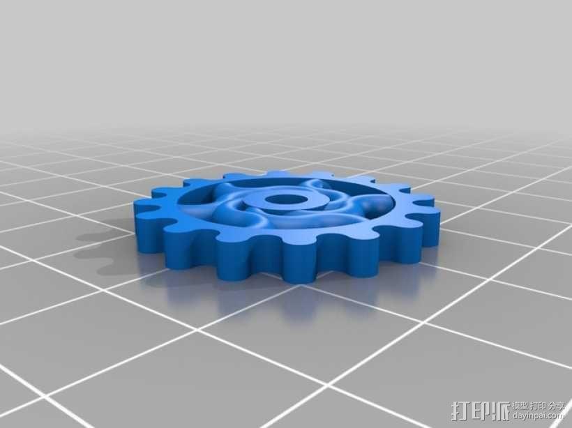 装饰性齿轮 3D模型  图11