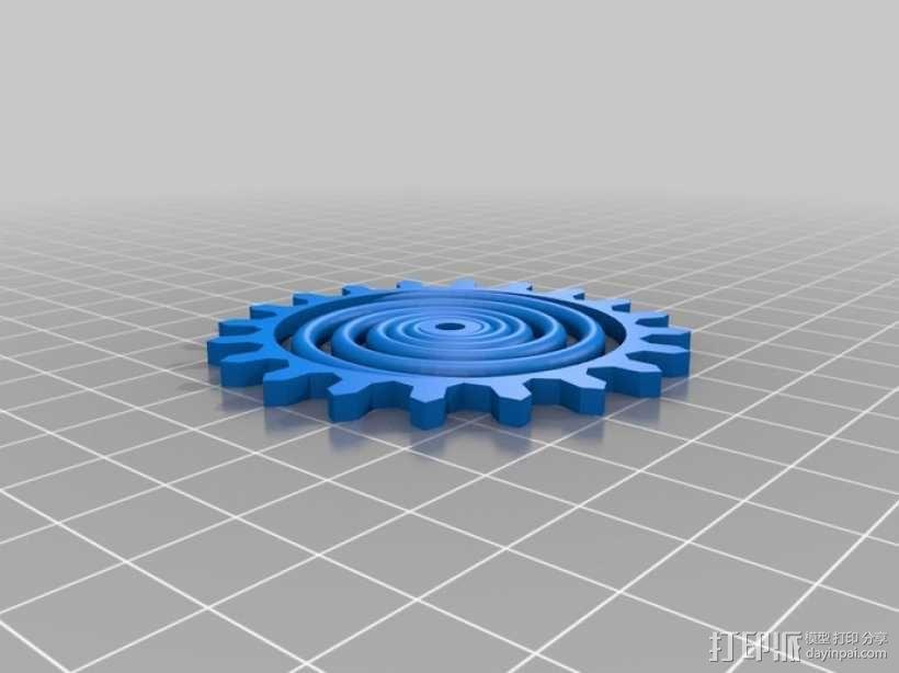 装饰性齿轮 3D模型  图15
