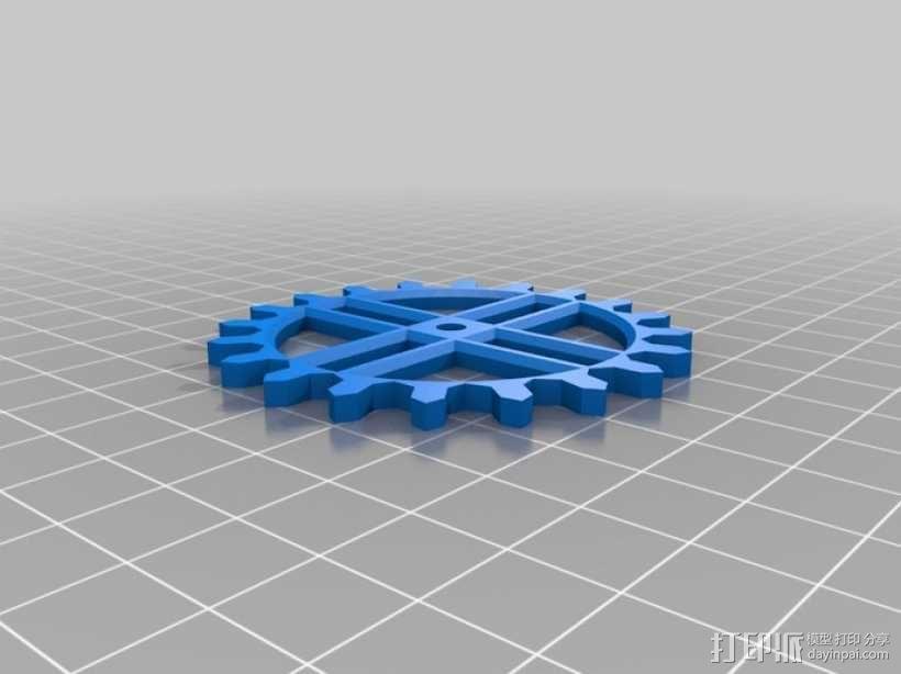 装饰性齿轮 3D模型  图14