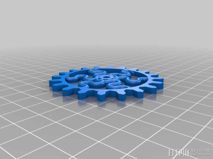 装饰性齿轮 3D模型  图17